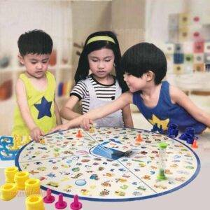 Montessori Puzzle Kids Detectives Looking Chart Board Game Plastic Puzzle Brain Training Education Game Kit Learning  Gifts Toys, Kids and Baby color: 1